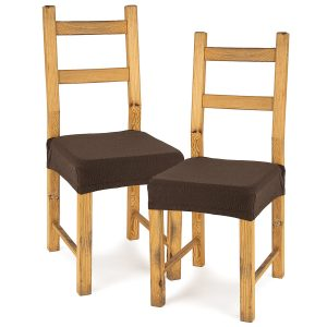 4Home Multielastický potah na sedák na židli Comfort hnědá