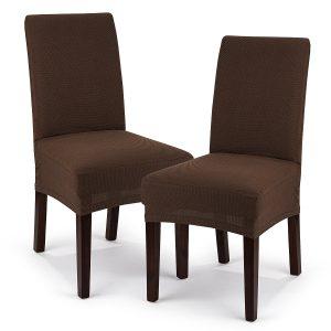 4Home Multielastický potah na židli Comfort hnědá