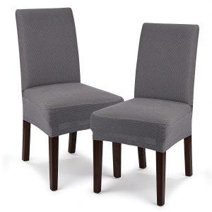 4Home Multielastický potah na židli Comfort šedá
