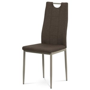 Jídelní sconto jídelní židle amina hnědá/cappuccino - židle na SEDI.cz