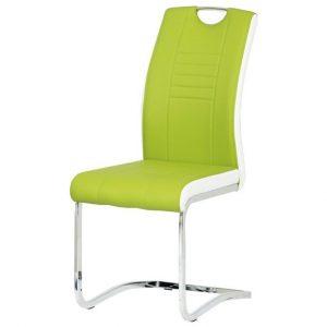 Jídelní sconto jídelní židle ashley zeleno-bílá - židle na SEDI.cz