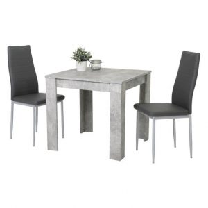 Set stůl a židle sconto jídelní sestava duo beton - Jídelní sety a soupravy na SEDI.cz
