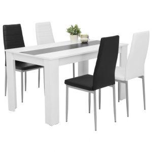 Set stůl a židle sconto jídelní sestava helene g bílá - Jídelní sety a soupravy na SEDI.cz
