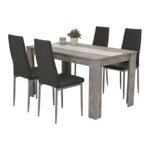 Set stůl a židle sconto jídelní sestava helene g beton/bílá - Jídelní sety a soupravy na SEDI.cz