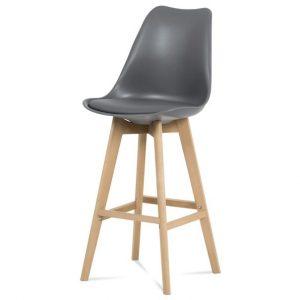 Sconto barová židle juliette šedá/buk - židle na SEDI.cz