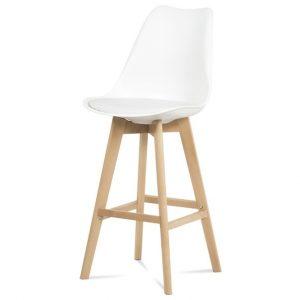 Sconto barová židle juliette bílá/buk - židle na SEDI.cz