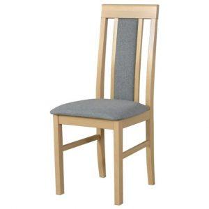 Jídelní sconto jídelní židle nila 2 světle šedá/dub sonoma - židle na SEDI.cz