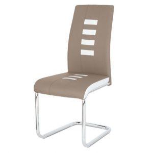 Jídelní sconto jídelní židle anastasia cappucino/bílá - židle na SEDI.cz