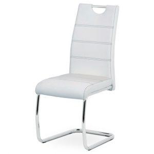 Jídelní sconto jídelní židle groto bílá/stříbrná - židle na SEDI.cz