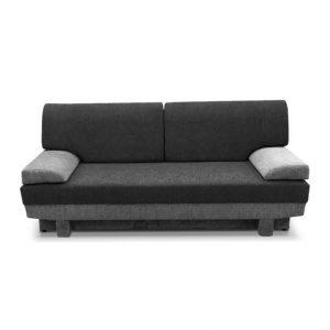 Dvoumístná rozkládací sconto pohovka mirelia černá/šedá s úložným prostorem