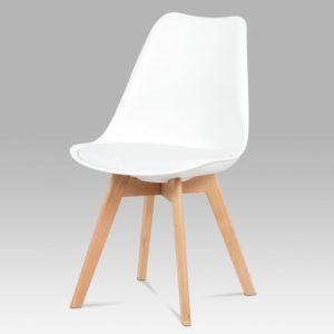 Jídelní sconto jídelní židle sabrina bílá/buk - židle na SEDI.cz