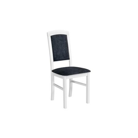 Jídelní židle nilo 4 bílá tkanina 10 - židle na SEDI.cz