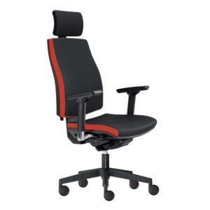 Kancelářská židle john černá/červená - židle na SEDI.cz