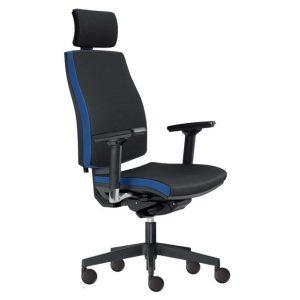 Kancelářská židle john černá/modrá - židle na SEDI.cz