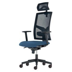 Kancelářská židle paige modrošedá - židle na SEDI.cz