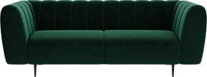 Dvoumístná tmavě zelená sametová pohovka ghado shel