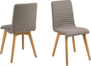 Jídelní sada 2 světle šedých jídelních židlí actona arosa - židle na SEDI.cz