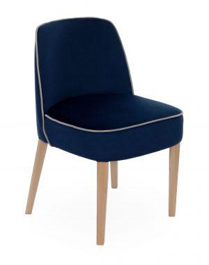 Snap chelsea plus wood židle modrá - židle na SEDI.cz