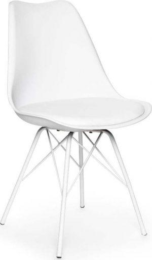 Sada 2 bílých židlí s bílým podnožím z kovu loomi.design eco - židle na SEDI.cz
