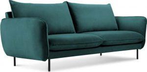 Dvoumístná petrolejově zelená sametová pohovka cosmopolitan design vienna