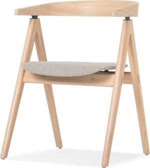 Jídelní židle z masivního dubového dřeva se šedým sedákem gazzda ava - židle na SEDI.cz