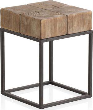 Stolička na sezení s kovovými nohami geese robust