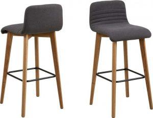 Sada 2 šedých barových židlí actona arosa - židle na SEDI.cz