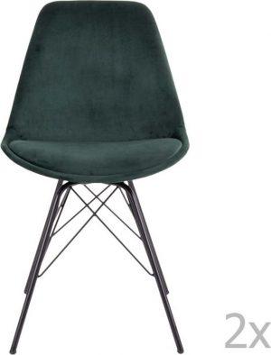 Jídelní sada 2 tmavě zelených jídelních židlí house nordic oslo - židle na SEDI.cz