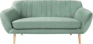 Dvoumístná mentolově zelená sametová pohovka mazzini sofas sardaigne