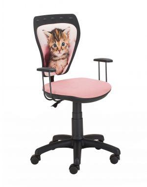 židle ministyle černá - kočka zabalená v dece - židle na SEDI.cz