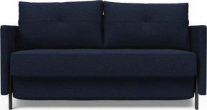 Dvoumístná rozkládací tmavě modrá rozkládací pohovka innovation cuber with arms mixed dance blue