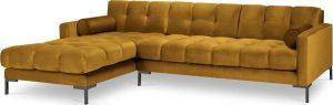 žlutá sametová rohová pohovka cosmopolitan design bali
