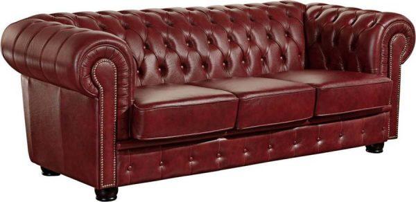 červená kožená pohovka max winzer norwin