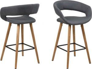 Sada 2 tmavě šedých barových židlí actona gill - židle na SEDI.cz