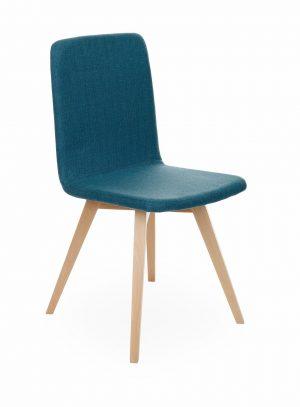 Snap skin židle bukové dřevo modrá - židle na SEDI.cz