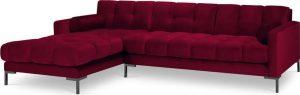 červená sametová rohová pohovka cosmopolitan design bali