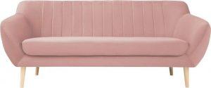Dvoumístná světle růžová sametová pohovka mazzini sofas sardaigne