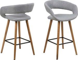 Sada 2 šedých barových židlí actona gill - židle na SEDI.cz