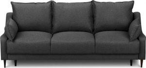 Rozkládací tmavě šedá rozkládací pohovka súložným prostorem mazzini sofas ancolie