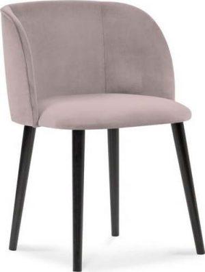 Jídelní půdrově růžová jídelní židle se sametovým potahem windsor & co sofas aurora - židle na SEDI.cz