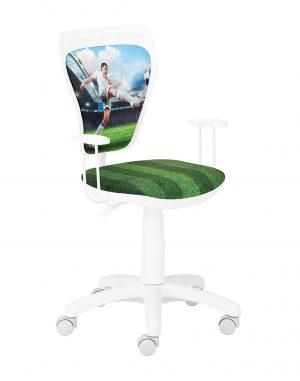 židle ministyle white fotbalista - židle na SEDI.cz