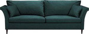 Rozkládací zelenomodrá rozkládací pohovka súložným prostorem mazzini sofas pivoine s úložným prostorem
