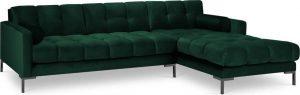 Tmavě zelená sametová rohová pohovka cosmopolitan design bali