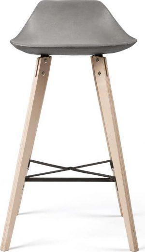 Barová židle s betonovým sedákem lyon béton hauteville - židle na SEDI.cz