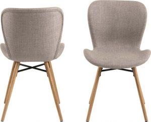 Jídelní sada 2 béžových jídelních židlí actona batilda - židle na SEDI.cz