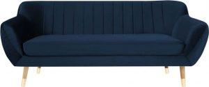 Tmavě modrá sametová pohovka mazzini sofas benito