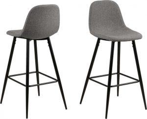 Světle šedá barová židle s kovovým podnožím actona wilma - židle na SEDI.cz
