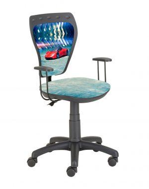 židle ministyle černá s červeným autem - židle na SEDI.cz