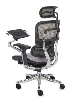 Grospol ergohuman kancelářská židle s opěrkou nohou černá - židle na SEDI.cz