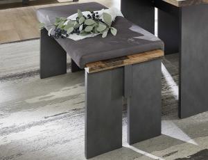 Jídelní lavice s podsedákem z kolekce cardiff - exkluzivní optika v městském industriálním stylu v kombinaci imitace broušeného kovu s vintage optikou dřevěných prken. snadno si tak zařídíte interier